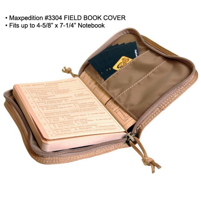 Maxpedition Field Book Cover Maxp 3304 Tactical Kit